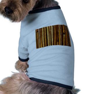bamboo canes wood Natural Brown Texture Style Fash Dog Tee Shirt