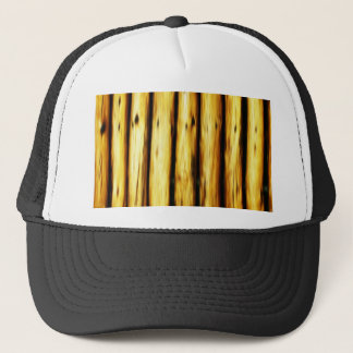 bamboo canes wood Natural Brown Texture Style Fash Trucker Hat