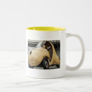Bamboo Car Two-Tone Coffee Mug
