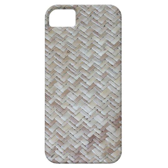 Bamboo chevron zigzag zig zag pattern wood photo iPhone SE/5/5s case