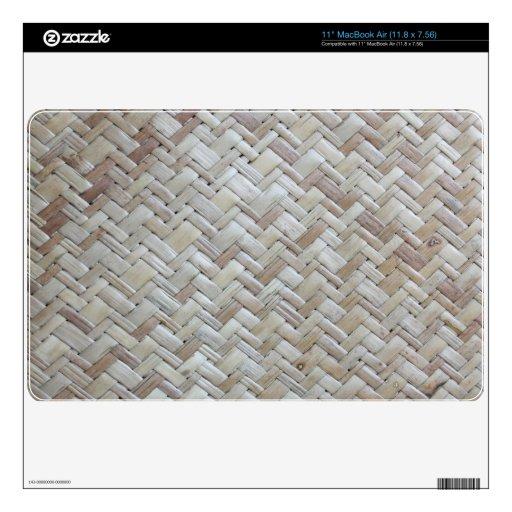 Bamboo chevron zigzag zig zag pattern wood photo skins for MacBook air