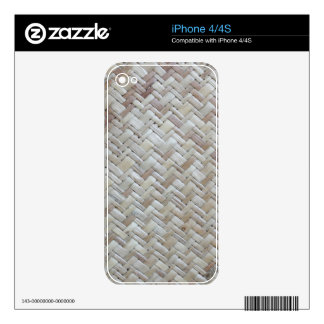 Bamboo chevron zigzag zig zag pattern wood photo decals for iPhone 4S