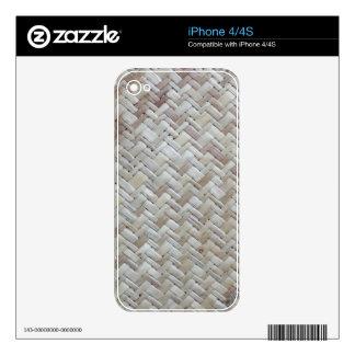 Bamboo chevron zigzag zig zag pattern wood photo skin for iPhone 4