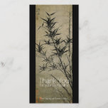 """Bamboo Chinese Painting Sympathy Thank You<br><div class=""""desc"""">Customizable Sympathy Thank You with &quot;New Bamboo by Gu An&quot;. You can easily change text (color,  font,  size and position) by clicking the personalize or customize button. Matching Memorial guest book,  Memorial books filler pages,  Celebration of life invitation and funeral postage.</div>"""