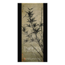Bamboo Chinese Painting Sympathy Thank You Card