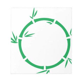 Bamboo Circle Notepad