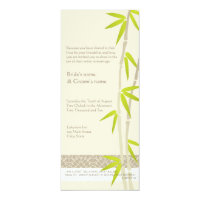 Bamboo Design Wedding Invitations