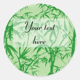 Bamboo Dreams Classic Round Sticker