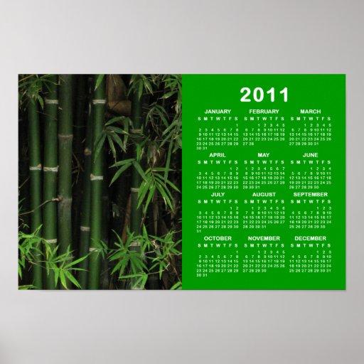 Bamboo ... Fao Rai, Nong Khai, Isaan 2011 Calendar Print