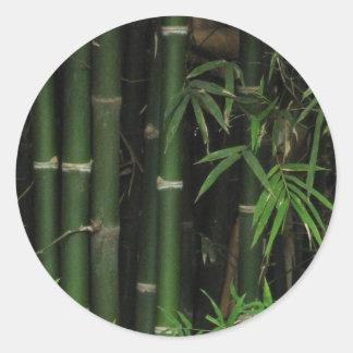 Bamboo Fao Rai Nong Khai Isaan Thailand Round Stickers