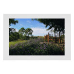 Bamboo Fence Perspective Poster