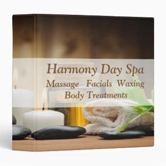 Bamboo Flower Oil Zen Spa Massage 3 Ring Binder