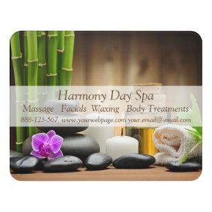 Attirant Bamboo Flower Oil Zen Spa Massage Door Sign