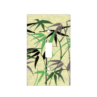 Bamboo Foliage, Leaves, Shoots - Green Yellow Light Switch Cover