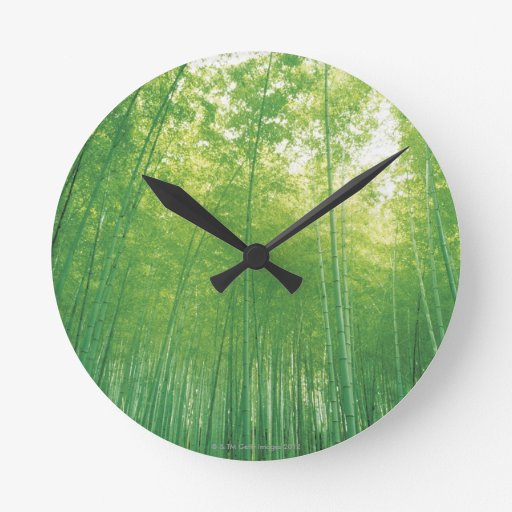 Bamboo Forest 2 Round Clock