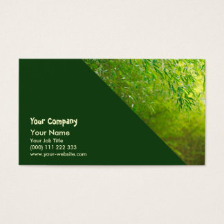 Bamboo forest business card