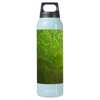 Bamboo forest insulated water bottle