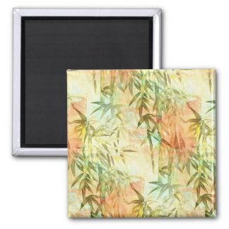 Bamboo Forest Painting 2 Inch Square Magnet