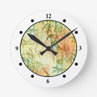 Bamboo Forest Painting Round Wall Clock