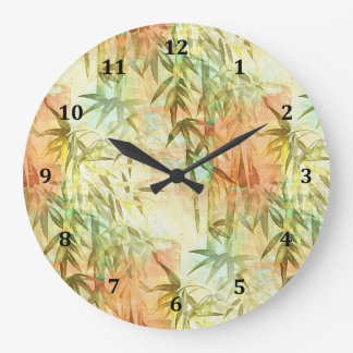 Bamboo Forest Painting Wall Clock