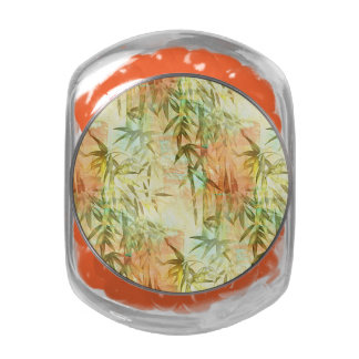 Bamboo Forest Painting Jelly Belly Candy Jar