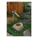 Bamboo Fountain Greeting Cards