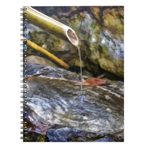 Bamboo Fountain Spiral Note Books