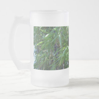 Bamboo Frosted Glass Beer Mug