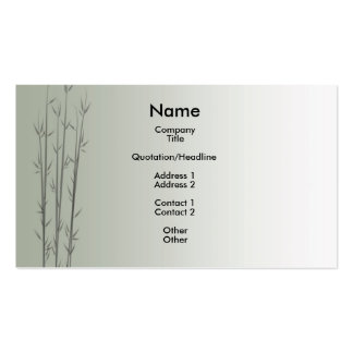 Bamboo/Fung Shui Double-Sided Standard Business Cards (Pack Of 100)