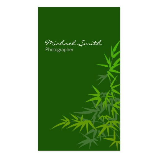 Bamboo Green Business Card Templates