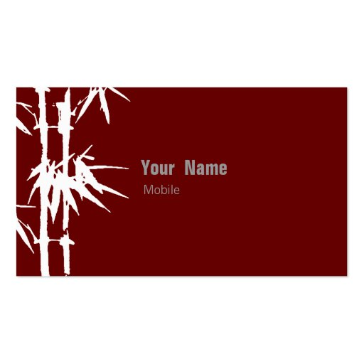 Bamboo Green Double Sided Standard Business Cards Pack Of
