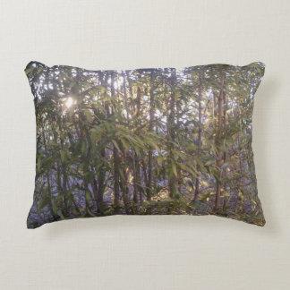 Bamboo In Sunlight Mosaic Decorative Pillow