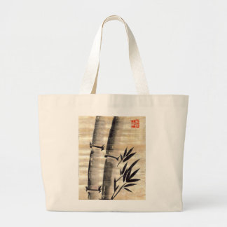 Bamboo Ink on Papyrus Art Canvas Bag