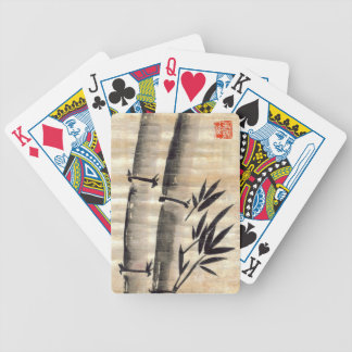 Bamboo Ink on Papyrus Art Bicycle Playing Cards