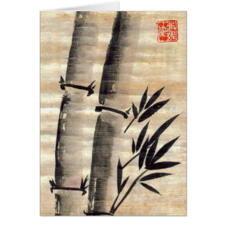 Bamboo Ink on Papyrus Art Blank Card