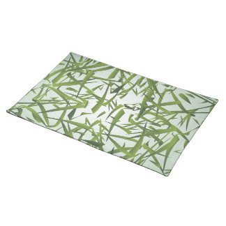 Bamboo Leaf Pattern Cloth Placemat