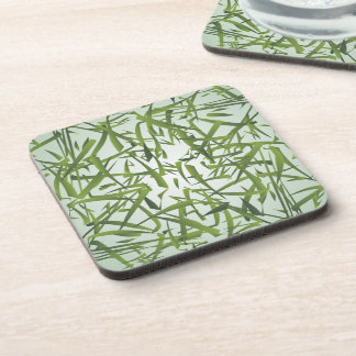 Bamboo Leaf Pattern Drink Coasters