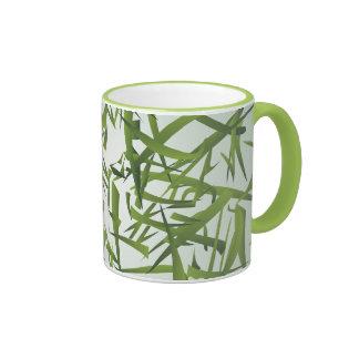 Bamboo Leaf Pattern Ringer Mug