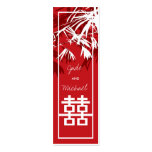 Bamboo Leaves + Double Xi Box Thank You Gift Tag / Double-Sided Mini Business Cards (Pack Of 20)