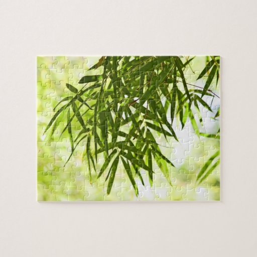 Bamboo leaves jigsaw puzzles