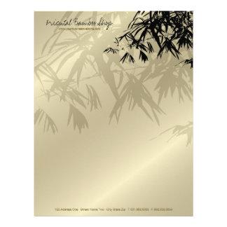Bamboo Leaves Silhouette Business Letterhead