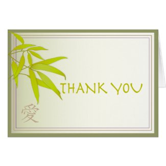 Bamboo Leaves Thank You Card