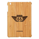 Bamboo Look & Engraved American Route 66 Sign iPad Mini Cases