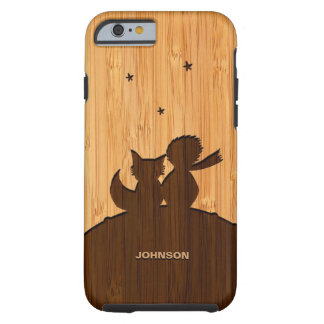 Bamboo Look & Engraved Little Prince with Fox iPhone 6 Case