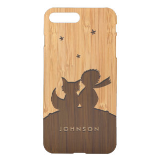 Bamboo Look & Engraved Little Prince with Fox iPhone 7 Plus Case