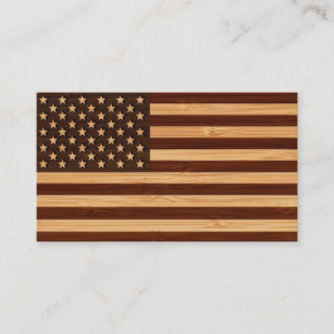 Bamboo business cards templates zazzle bamboo look engraved vintage american usa flag business card colourmoves