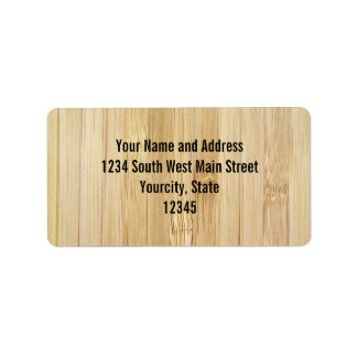 Bamboo-Look Personalized Address Label