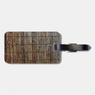 bamboo mat background bag tag