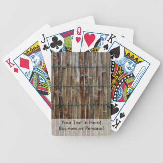 bamboo mat background bicycle playing cards