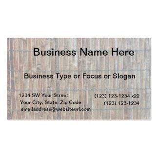 bamboo mat background business card
